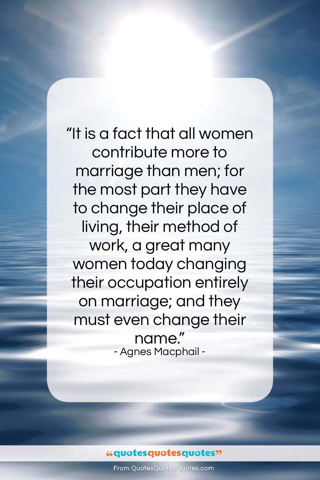 """Agnes Macphail quote: """"It is a fact that all women…""""- at QuotesQuotesQuotes.com"""