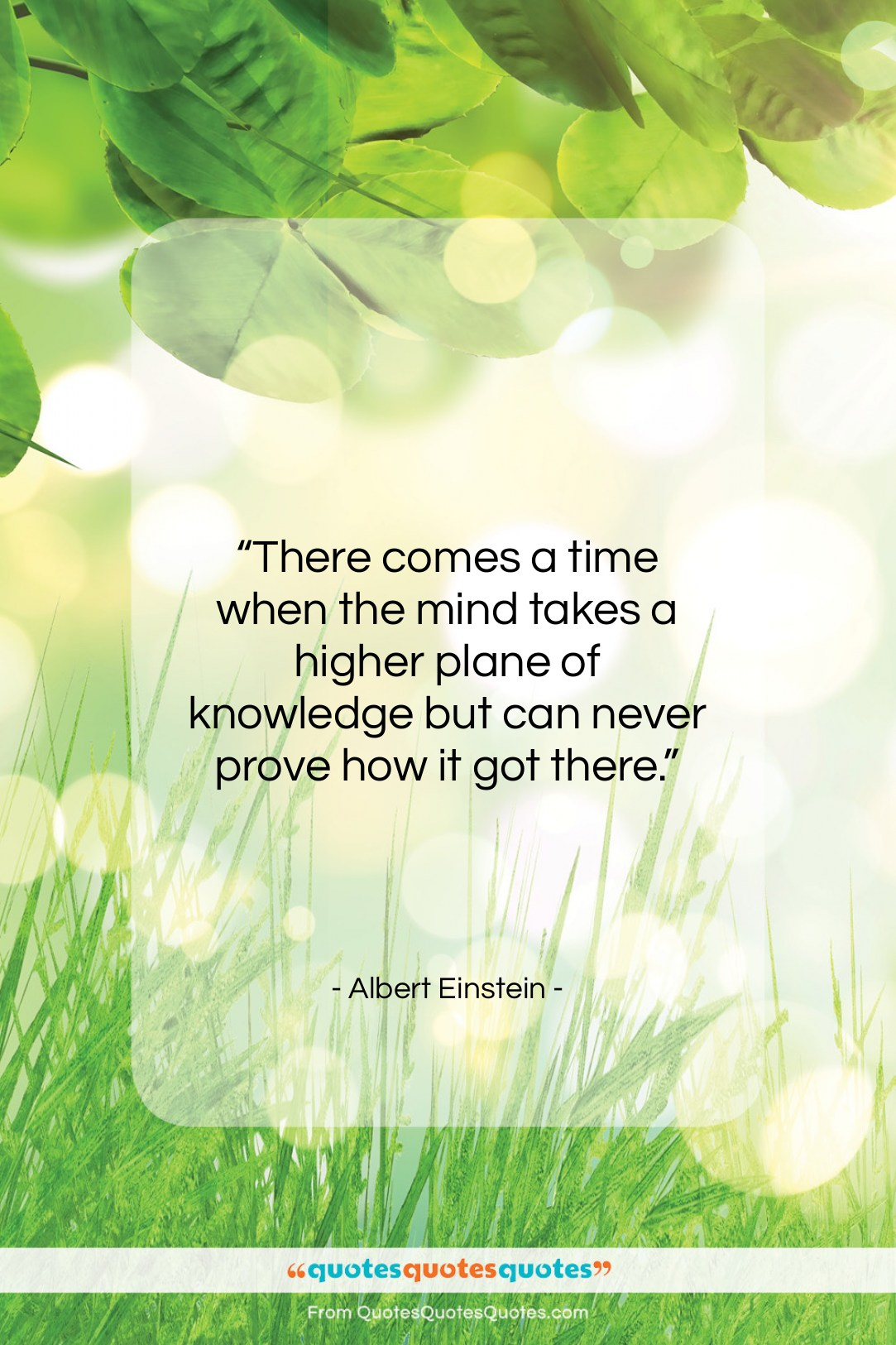 """Albert Einstein quote: """"There comes a time when the mind…""""- at QuotesQuotesQuotes.com"""