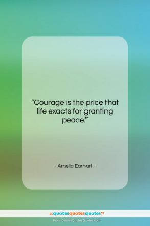 """Amelia Earhart quote: """"Courage is the price that life exacts…""""- at QuotesQuotesQuotes.com"""