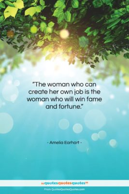 "Amelia Earhart quote: ""The woman who can create her own…""- at QuotesQuotesQuotes.com"