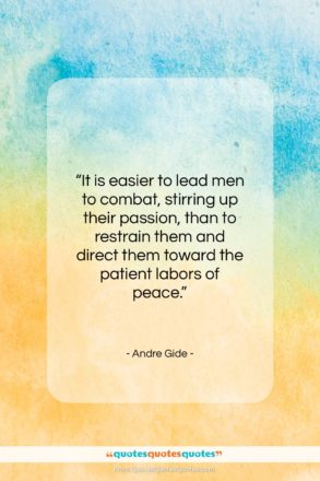 """Andre Gide quote: """"It is easier to lead men to…""""- at QuotesQuotesQuotes.com"""