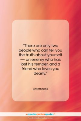 """Antisthenes quote: """"There are only two people who can…""""- at QuotesQuotesQuotes.com"""