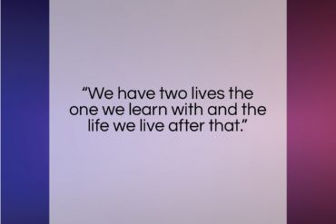 "Bernard Malamud quote: ""We have two lives the one we…""- at QuotesQuotesQuotes.com"