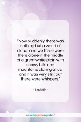 """Black Elk quote: """"Now suddenly there was nothing but a…""""- at QuotesQuotesQuotes.com"""