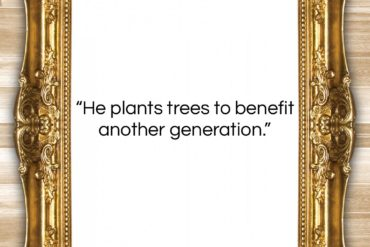 "Caecilius Statius quote: ""He plants trees to benefit another generation….""- at QuotesQuotesQuotes.com"
