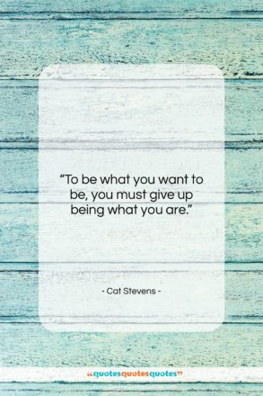 "Cat Stevens quote: ""To be what you want to be…""- at QuotesQuotesQuotes.com"