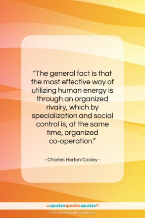 "Charles Horton Cooley quote: ""The general fact is that the most…""- at QuotesQuotesQuotes.com"