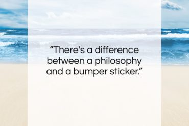 "Charles M. Schulz quote: ""There's a difference between a philosophy and…""- at QuotesQuotesQuotes.com"