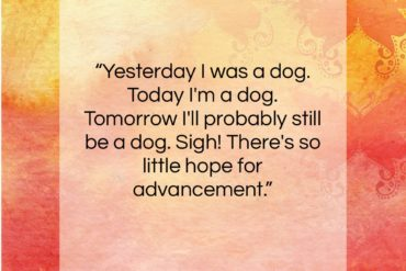 "Charles M. Schulz quote: ""Yesterday I was a dog. Today I'm…""- at QuotesQuotesQuotes.com"