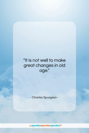 "Charles Spurgeon quote: ""It is not well to make great…""- at QuotesQuotesQuotes.com"