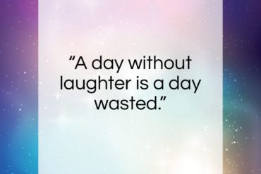 "Charlie Chaplin quote: ""A day without laughter is a day…""- at QuotesQuotesQuotes.com"