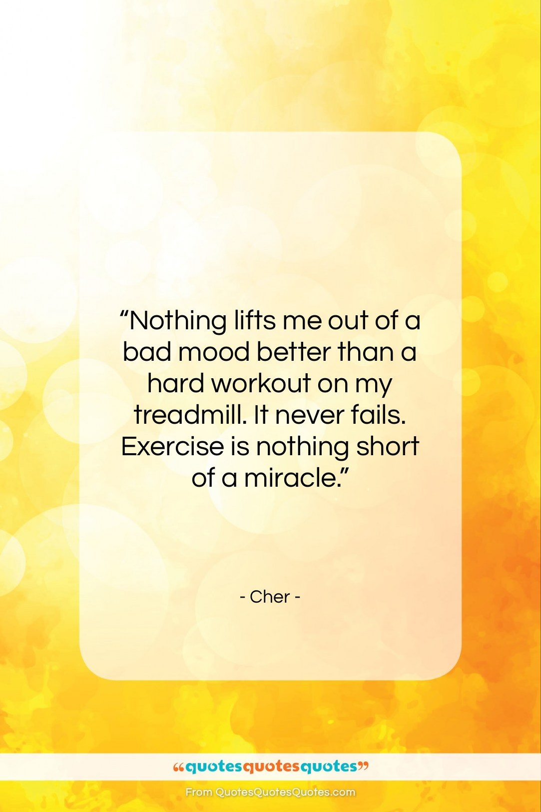 "Cher quote: ""Nothing lifts me out of a bad…""- at QuotesQuotesQuotes.com"