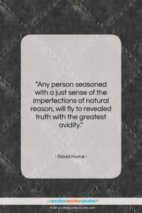 "David Hume quote: ""Any person seasoned with a just sense…""- at QuotesQuotesQuotes.com"