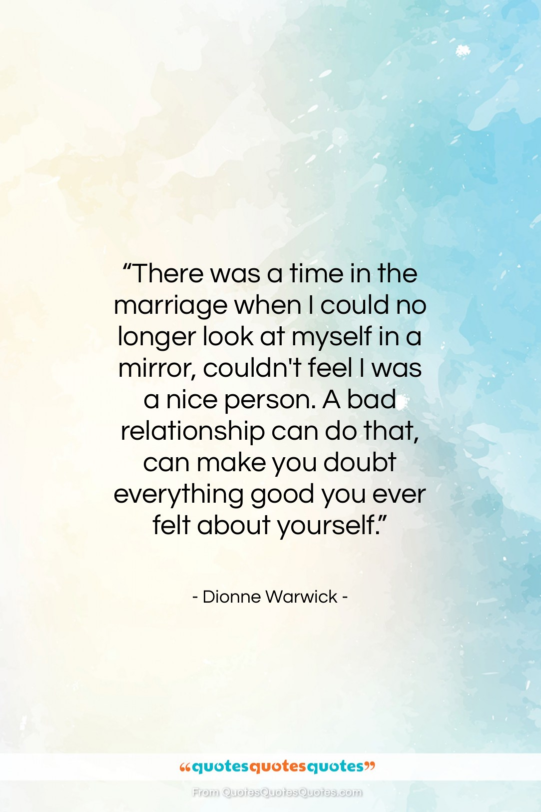 "Dionne Warwick quote: ""There was a time in the marriage…""- at QuotesQuotesQuotes.com"
