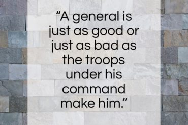 "Douglas MacArthur quote: ""A general is just as good or…""- at QuotesQuotesQuotes.com"