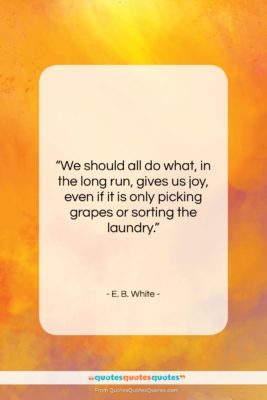 """E. B. White quote: """"We should all do what, in the…""""- at QuotesQuotesQuotes.com"""