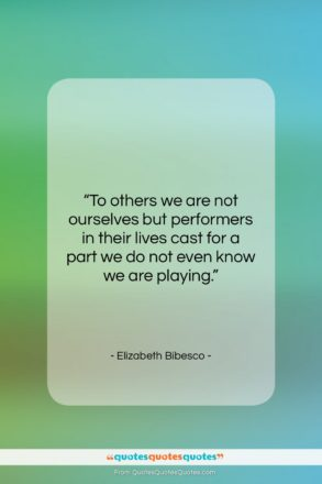 """Elizabeth Bibesco quote: """"To others we are not ourselves but…""""- at QuotesQuotesQuotes.com"""