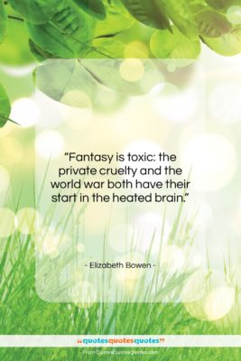 "Elizabeth Bowen quote: ""Fantasy is toxic: the private cruelty and…""- at QuotesQuotesQuotes.com"