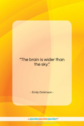 """Emily Dickinson quote: """"The brain is wider than the sky….""""- at QuotesQuotesQuotes.com"""