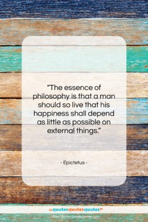 """Epictetus quote: """"The essence of philosophy is that a…""""- at QuotesQuotesQuotes.com"""