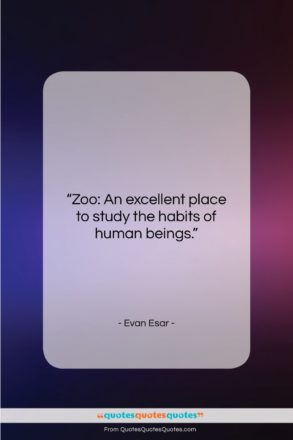 "Evan Esar quote: ""Zoo: An excellent place to study the…""- at QuotesQuotesQuotes.com"