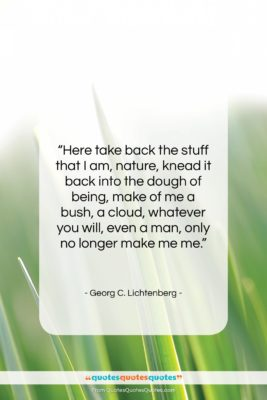 """Georg C. Lichtenberg quote: """"Here take back the stuff that I…""""- at QuotesQuotesQuotes.com"""