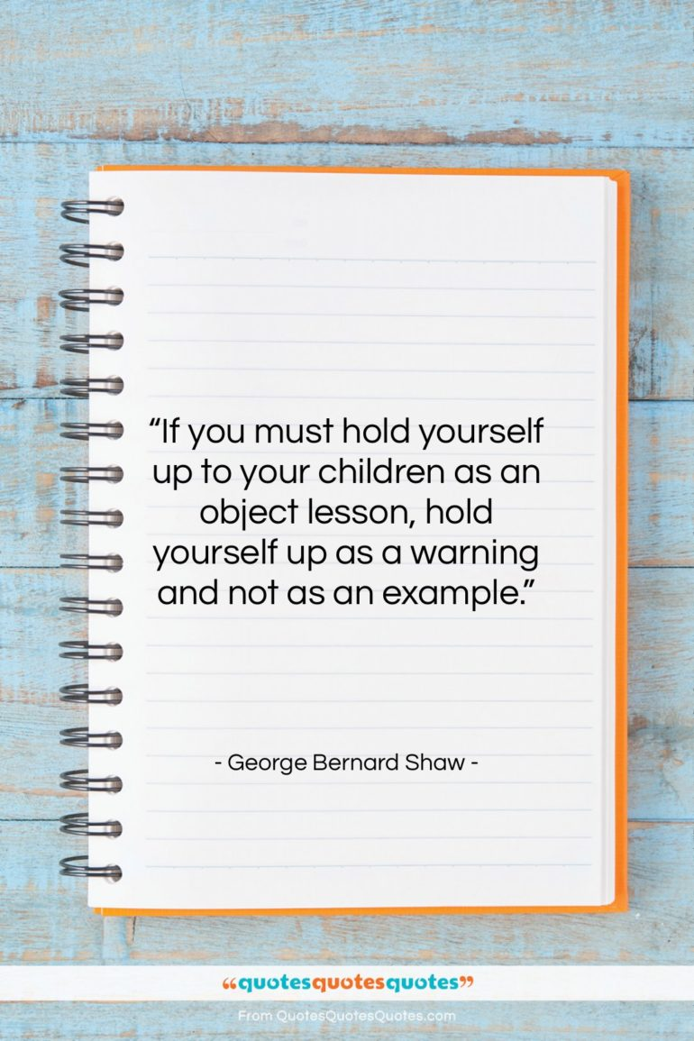 """George Bernard Shaw quote: """"If you must hold yourself up to…""""- at QuotesQuotesQuotes.com"""