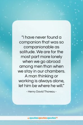 """Henry David Thoreau quote: """"I have never found a companion that…""""- at QuotesQuotesQuotes.com"""