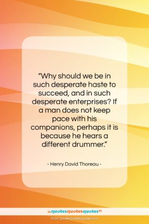 "Henry David Thoreau quote: ""Why should we be in such desperate…""- at QuotesQuotesQuotes.com"