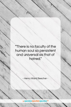 """Henry Ward Beecher quote: """"There is no faculty of the human…""""- at QuotesQuotesQuotes.com"""