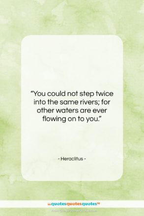 """Heraclitus quote: """"You could not step twice into the…""""- at QuotesQuotesQuotes.com"""