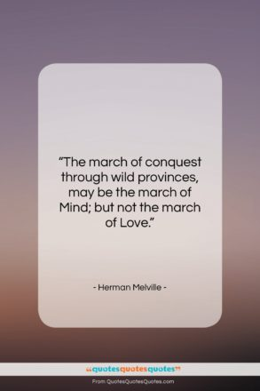 """Herman Melville quote: """"The march of conquest through wild provinces,…""""- at QuotesQuotesQuotes.com"""