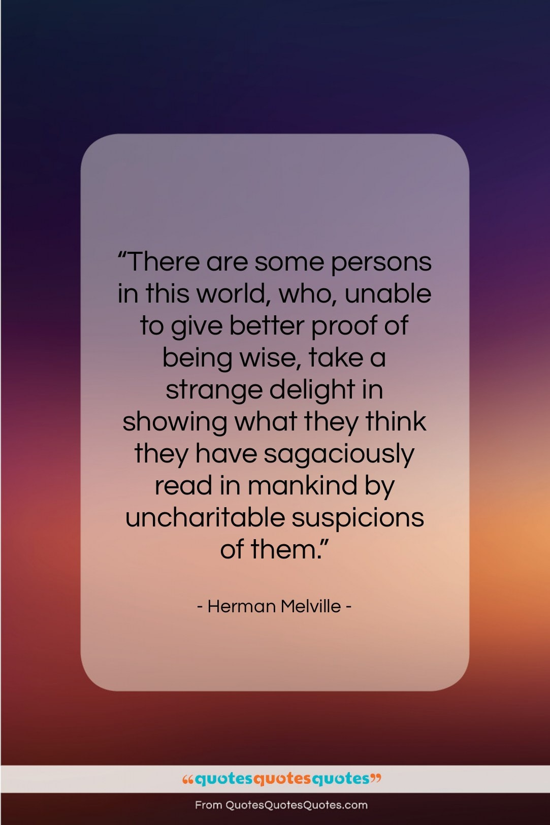 """Herman Melville quote: """"There are some persons in this world,…""""- at QuotesQuotesQuotes.com"""