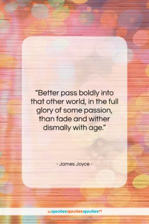 "James Joyce quote: ""Better pass boldly into that other world,…""- at QuotesQuotesQuotes.com"