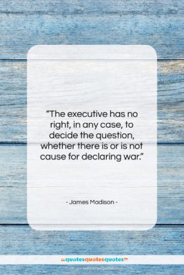 "James Madison quote: ""The executive has no right, in any…""- at QuotesQuotesQuotes.com"
