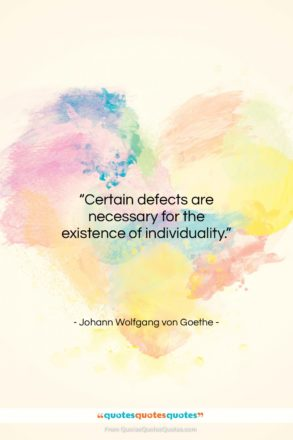 """Johann Wolfgang von Goethe quote: """"Certain defects are necessary for the existence…""""- at QuotesQuotesQuotes.com"""