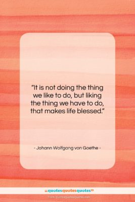 """Johann Wolfgang von Goethe quote: """"It is not doing the thing we…""""- at QuotesQuotesQuotes.com"""