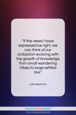 """John Boyd Orr quote: """"If the views I have expressed be…""""- at QuotesQuotesQuotes.com"""