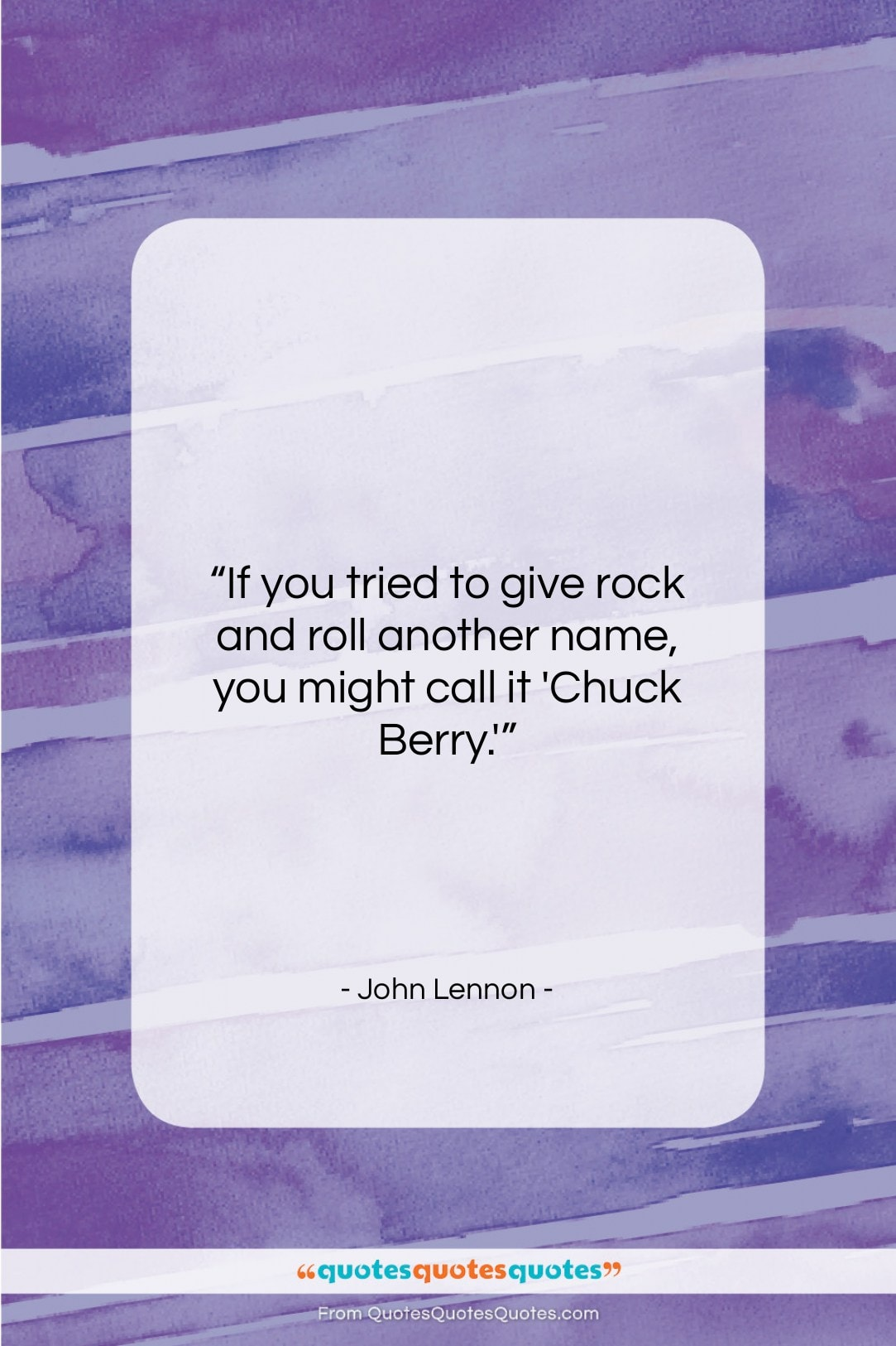 """John Lennon quote: """"If you tried to give rock and…""""- at QuotesQuotesQuotes.com"""