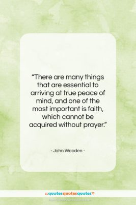 """John Wooden quote: """"There are many things that are essential…""""- at QuotesQuotesQuotes.com"""