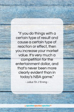 """Julius 'Dr J' Erving quote: """"If you do things with a certain…""""- at QuotesQuotesQuotes.com"""
