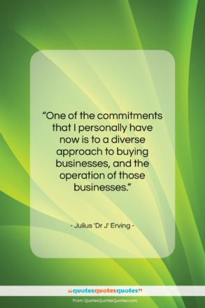 """Julius 'Dr J' Erving quote: """"One of the commitments that I personally…""""- at QuotesQuotesQuotes.com"""