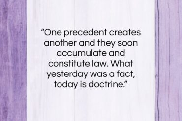 """Junius quote: """"One precedent creates another and they soon…""""- at QuotesQuotesQuotes.com"""