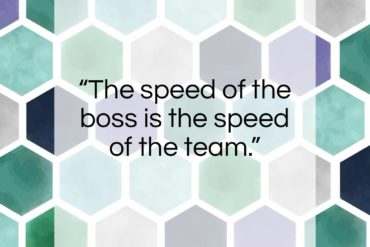 "Lee Iacocca quote: ""The speed of the boss is the…""- at QuotesQuotesQuotes.com"