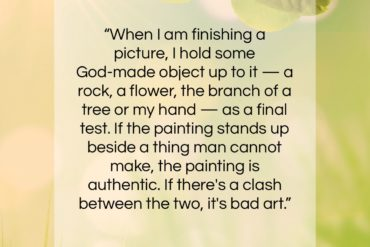 """Marc Chagall quote: """"When I am finishing a picture…""""- at QuotesQuotesQuotes.com"""