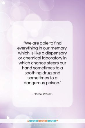 """Marcel Proust quote: """"We are able to find everything in…""""- at QuotesQuotesQuotes.com"""