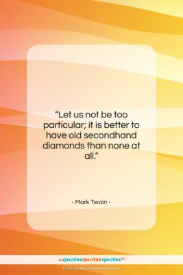 """Mark Twain quote: """"Let us not be too particular; it…""""- at QuotesQuotesQuotes.com"""