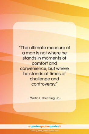 """Martin Luther King, Jr. quote: """"The ultimate measure of a man is…""""- at QuotesQuotesQuotes.com"""