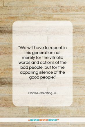 "Martin Luther King, Jr. quote: ""We will have to repent in this…""- at QuotesQuotesQuotes.com"
