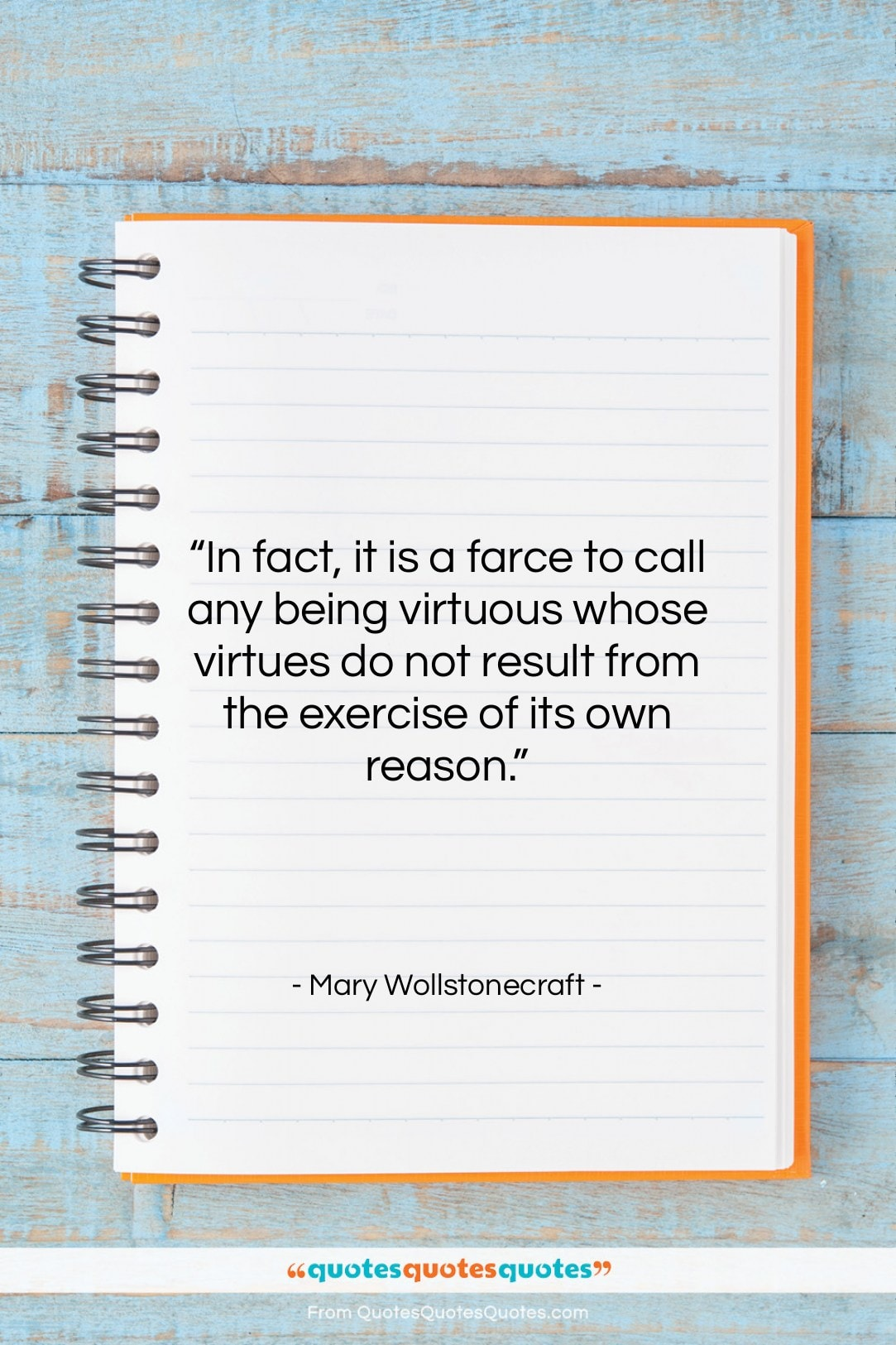 """Mary Wollstonecraft quote: """"In fact, it is a farce to…""""- at QuotesQuotesQuotes.com"""